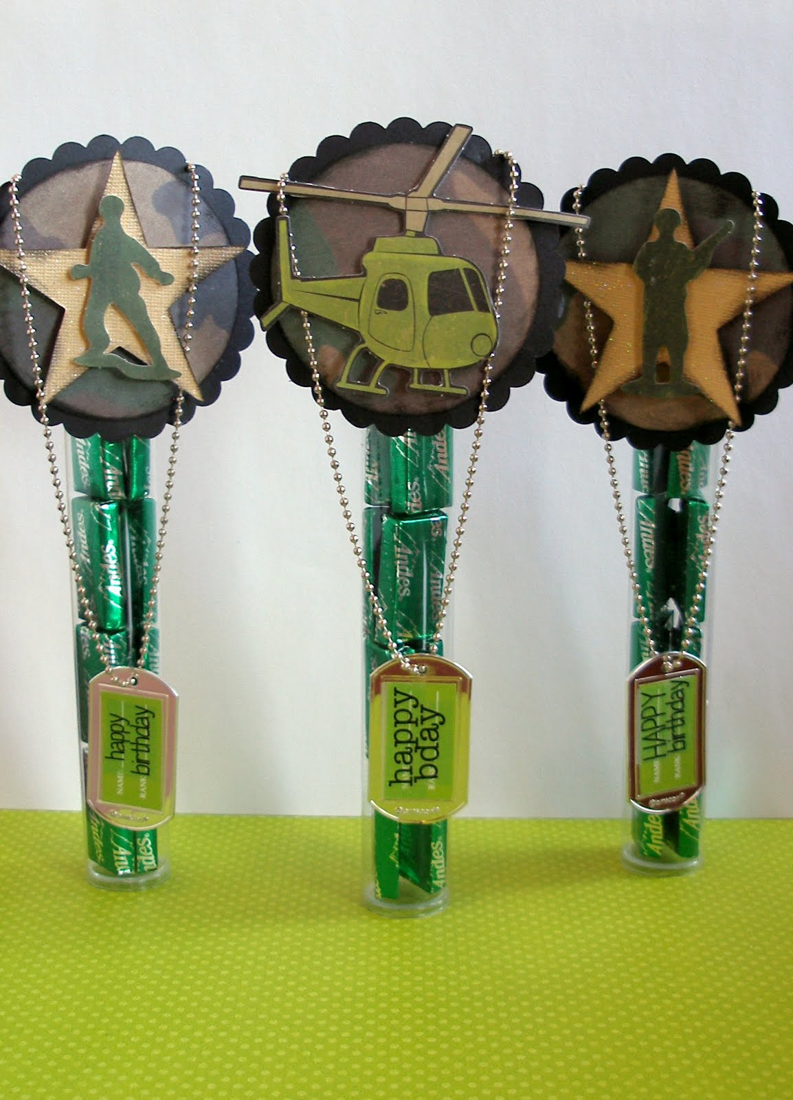 Precocious Paper Army Birthday Party Favors