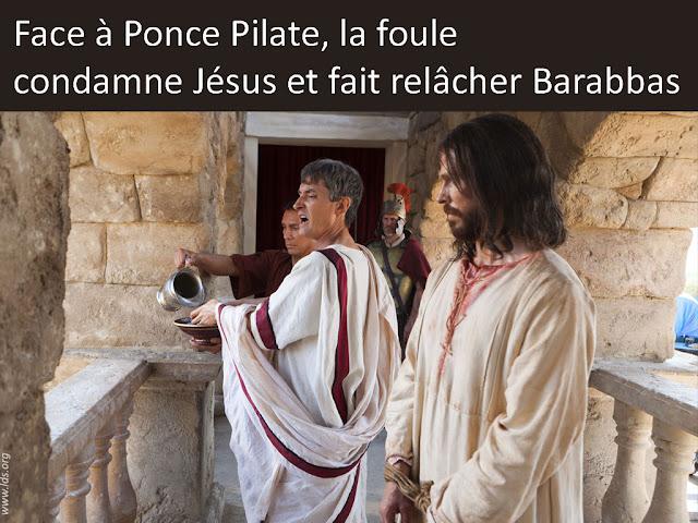 PONCE PILATE BARABBAS JESUS