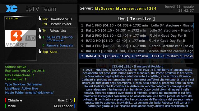 E2 PLUGIN DOWNLOAD] - XC Plugin Lite v1 0 MultiServer