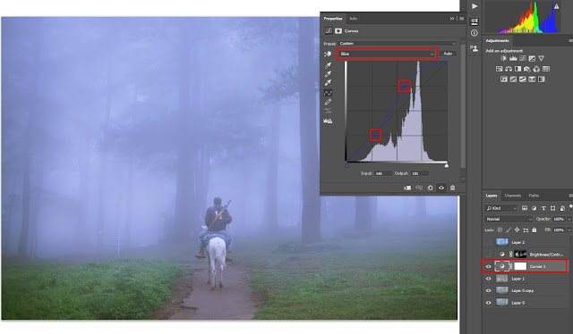 editing photography fog