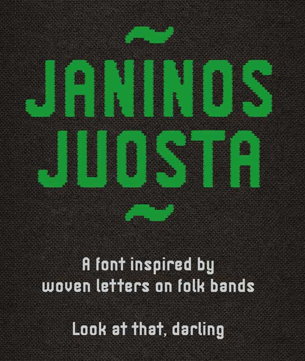 Janinos Juosta Free Font