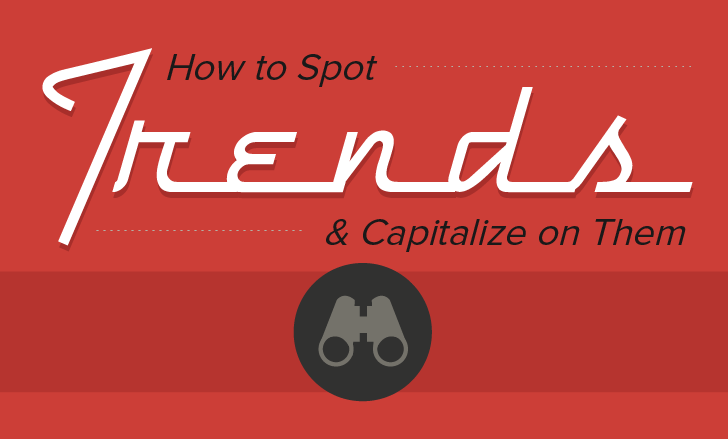 How To Spot Trends And Capitalize On Them - #Infographic #socialmedia