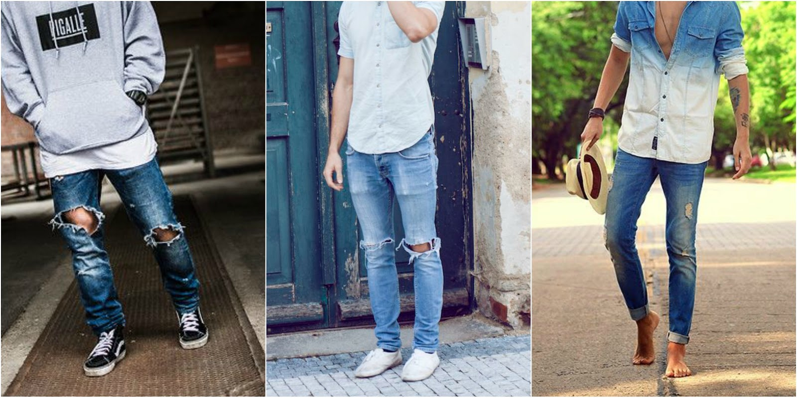men fashion trends for spring summer destroyed & trashed denim by jonathan zegbe - male blogger from antwerp