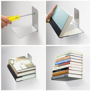 ไอเดียแจ่มๆชั้นวางหนังสือล่องหน เอาไว้ตกแต่งบ้านให้ดูแหวกแนวน่าสนใจ