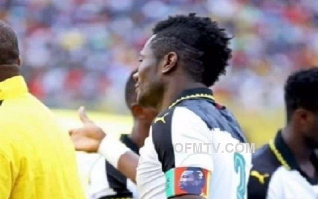 Black Stars captain Asamoah Gyan wore customised arm-band