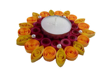 simple Quilling Paper Diya Holder Collections 2016