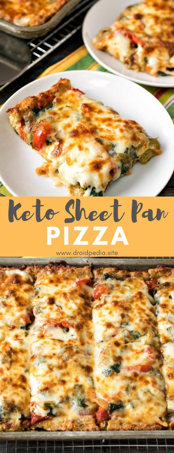 Keto Sheet Pan Pizza #dinner #appetizer #keto #sheetpan #pizza