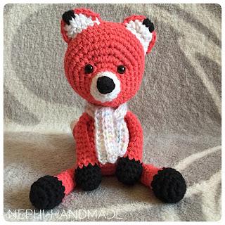 Fuchs gehäkelt, crochetfox, amigurumifox