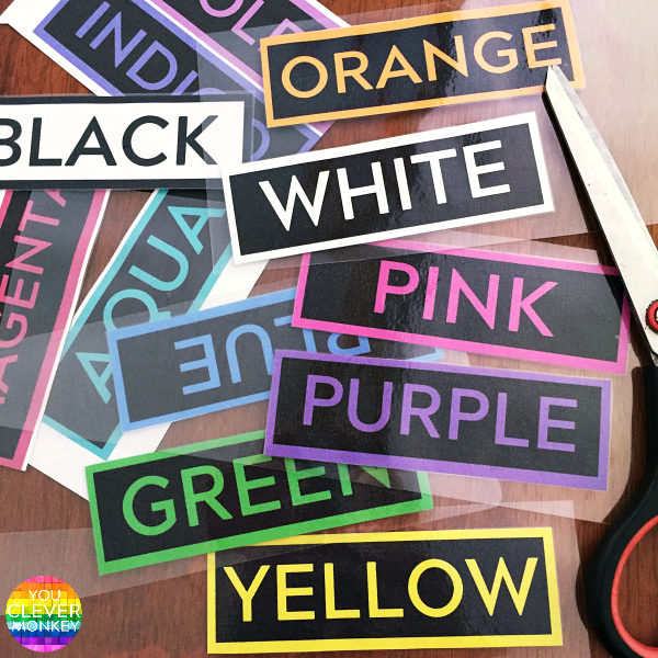 FREE Printable Colour Word Labels | you clever monkey