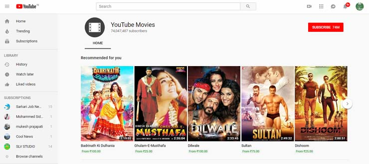 best bollywood movies site online