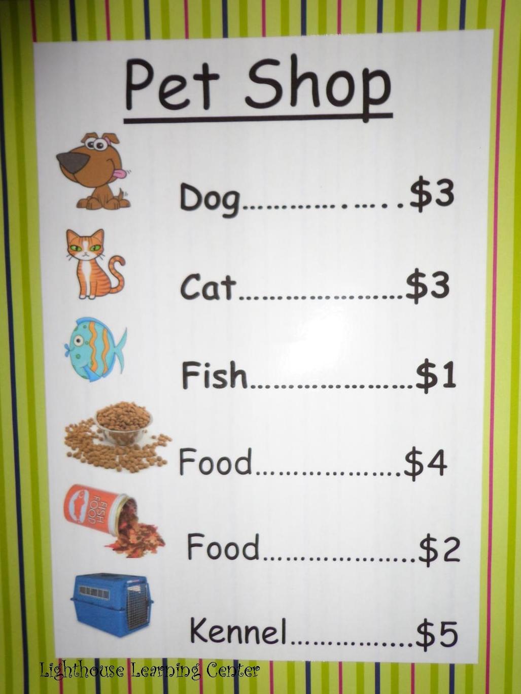 Pet shop story animal list