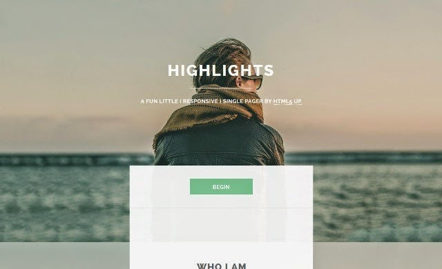 Highlights - Free Html5 Template