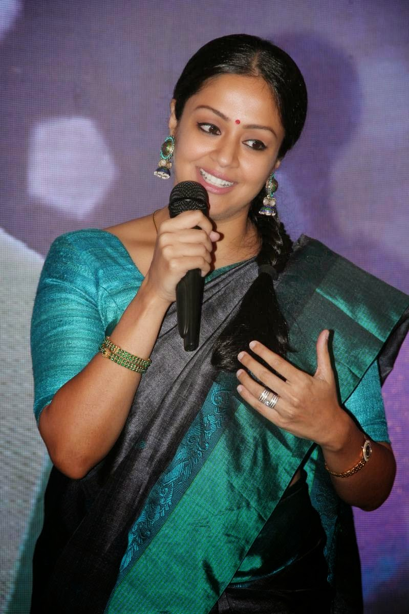 Jyothika Latest Photos in Green Saree at 36 Vayathinile ...