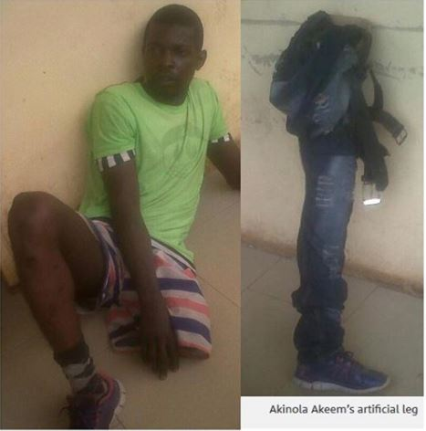 Face Of One-Legged Man Caught Inside Ceiling In Lagos
