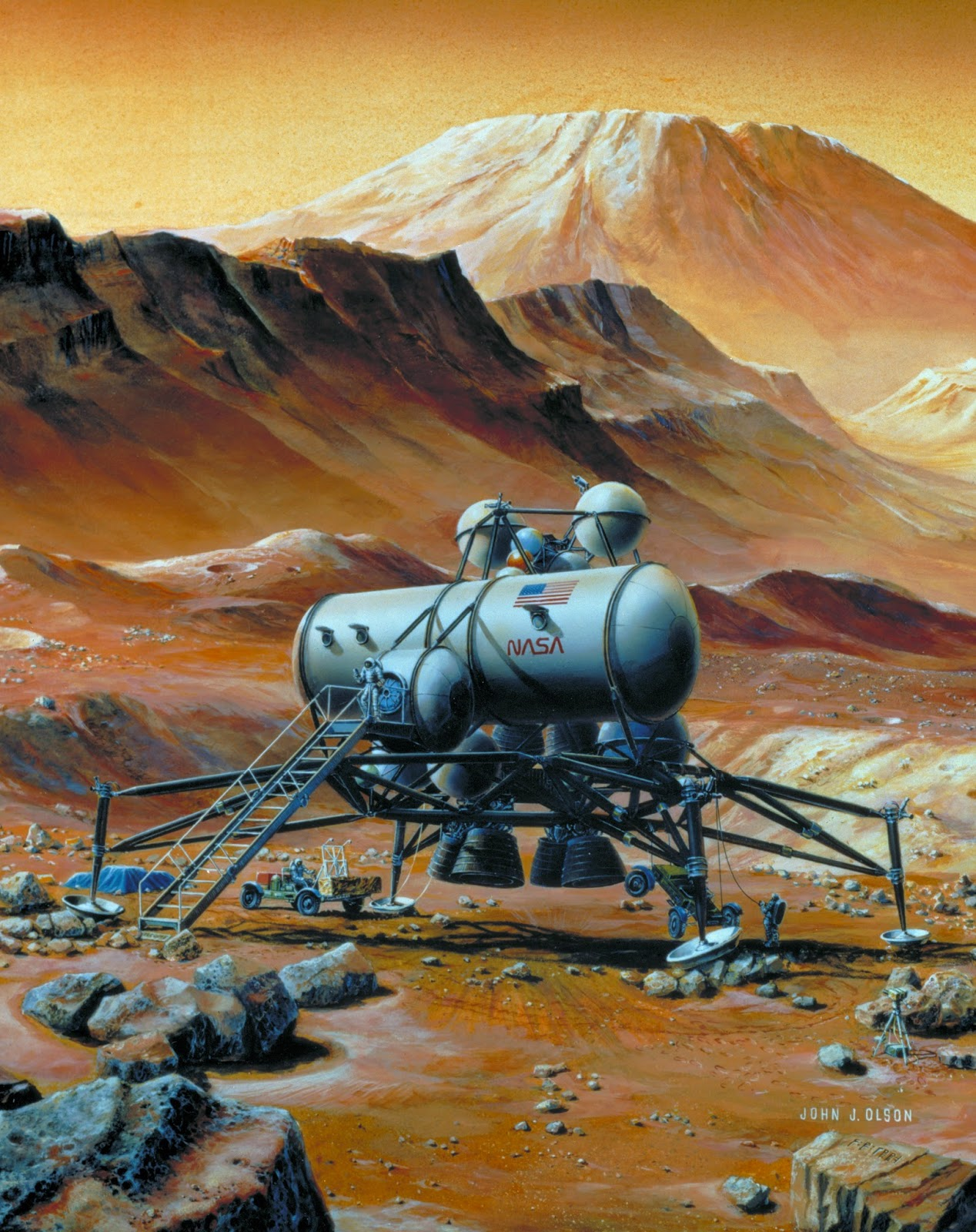 Mars base by John J. Olson