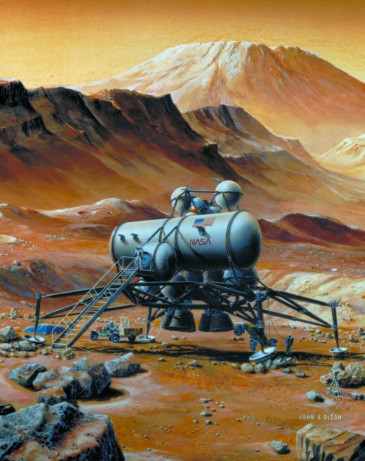 Mars base by John J. Olson