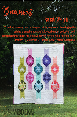 Make Modern Issue 21 Banners Kristy Lea modern quilting Michael Miller foundation piecing