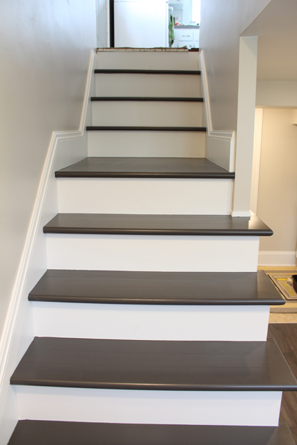 Painting Wood Basement Steps Danks, Easiest Way To Paint Basement Stairwell