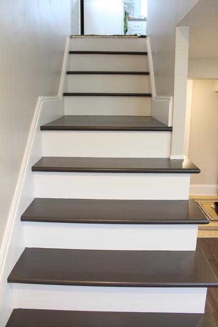 painting wood basement steps danks and honey. Black Bedroom Furniture Sets. Home Design Ideas