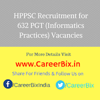 HPPSC Recruitment for 632 PGT (Informatics Practices) Vacancies