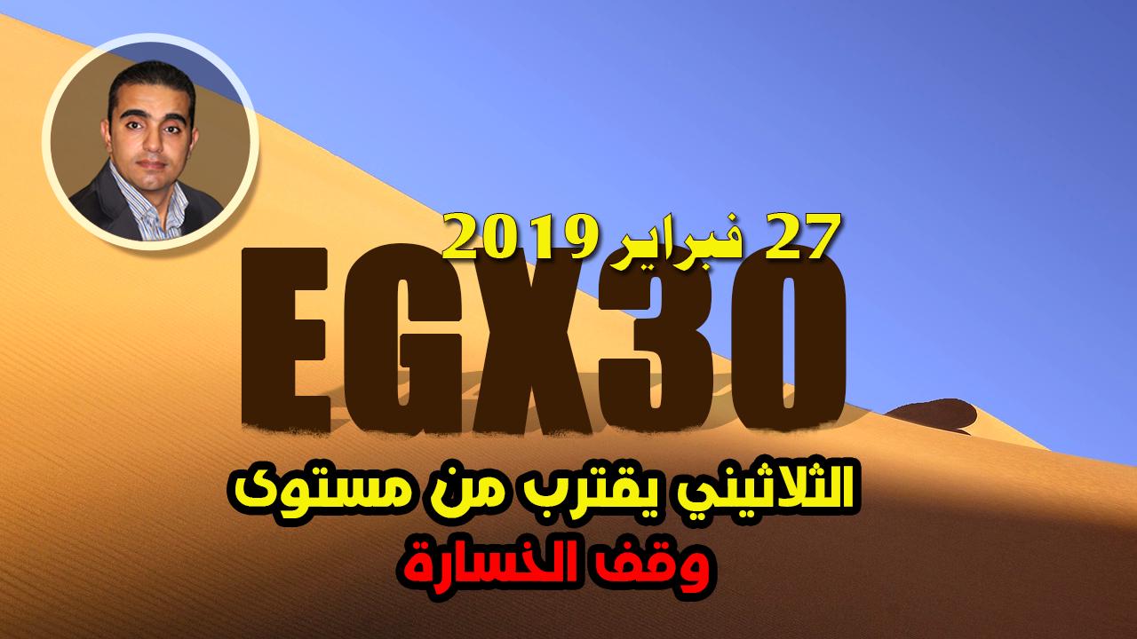 تحليل فني عن مؤشر البورصة المصرية EGX30