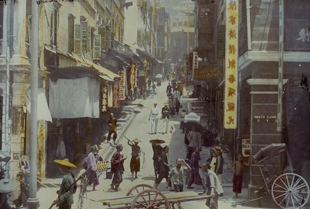 1894 - 1896 tại một đường phố ở Trung Quốc