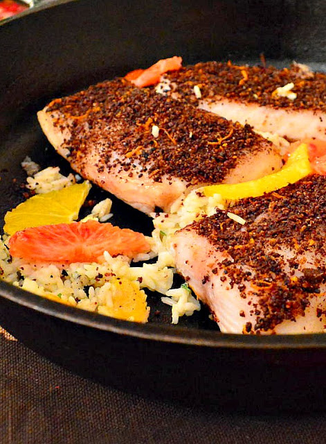 Fish with spice rub