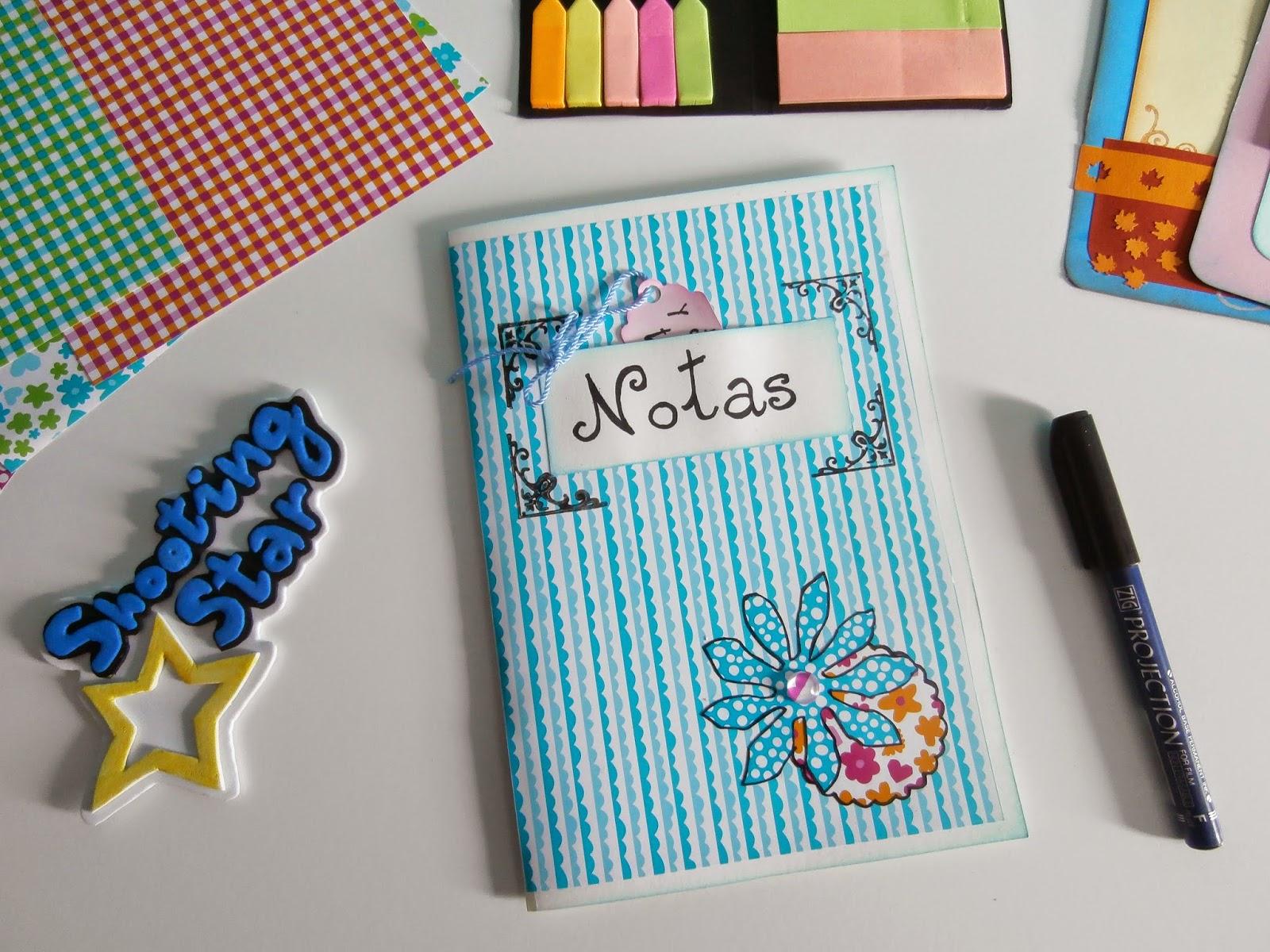cuaderno notas scrapbooking