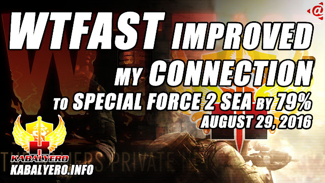 WTFast Improved My Special Force 2 SEA Connection By 79% - August 29, 2016