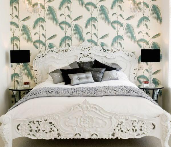 Feminine Bedroom Designs Dark Navy: Kensington Bliss: Loving The Black Lampshade
