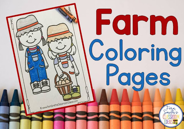 You will LOVE the 28 Farm and Farm Animals coloring pages that come in this Fall coloring pages resource! Terrific for a daily coloring page OR have a parent volunteer bind them into a COLORING BOOK for your students. Your students will ADORE these coloring pages because of the cute, cute, cute graphics! Your students can also draw in a FARM background and write about their coloring book page on the back. Use these coloring pages for all sorts of jumping off points for older students to use during their creative writing lessons! Add it to your plans to compliment any Fall Farm Unit! Download these 28 Coloring Book Pages for some INSTANT Fall Farm Coloring Joy in your home or classroom!