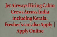 Jet Airways Hiring Cabin Crews Across India