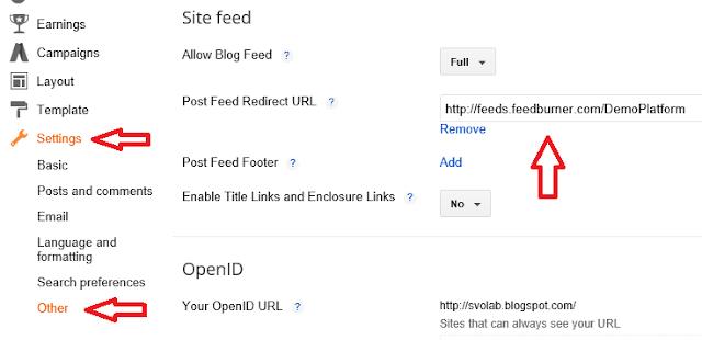 Integrate Feedburner With Blogger
