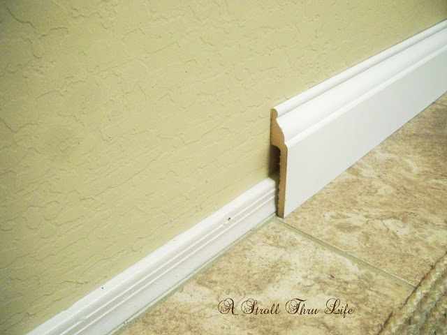 How to easily replace small baseboards