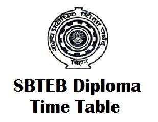 SBTE Bihar Polytechnic Timetable 2017