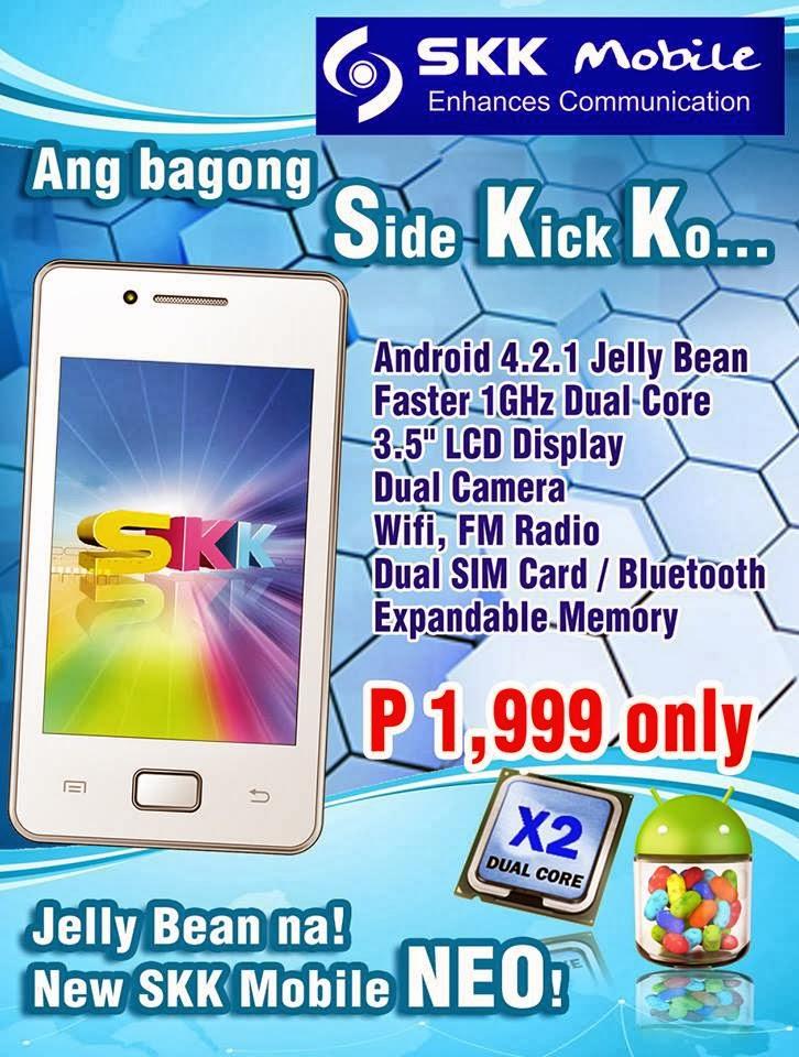 SKK Mobile Neo Jellybean under 2000 pesos - HowToQuick Net
