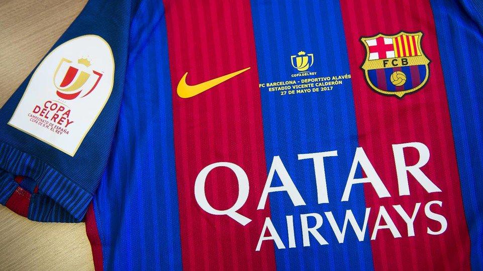 a0a02b4f683f4 Barcelona divulga a camisa para a final da Copa do Rei - Show de Camisas