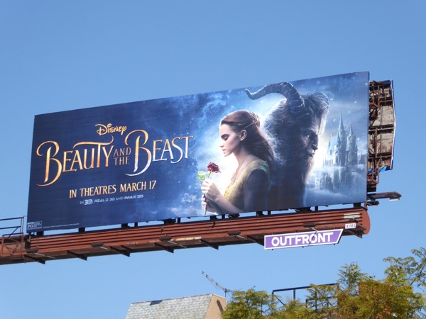 Disney Beauty and the Beast movie billboard