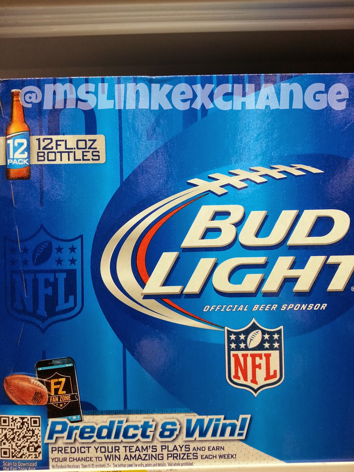 Photo of QR code on Bud Light Beer