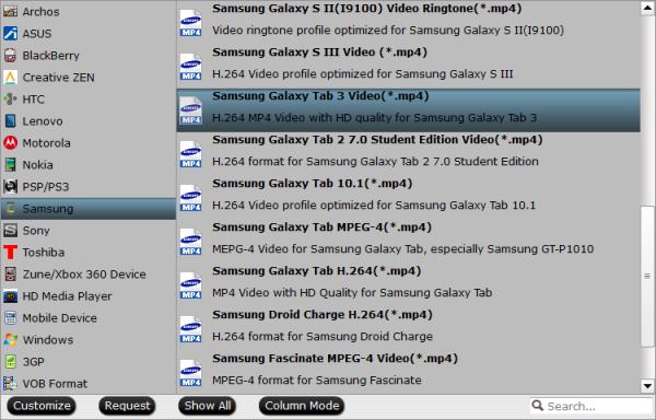 Galaxy Tab S 10.5 compatible videos