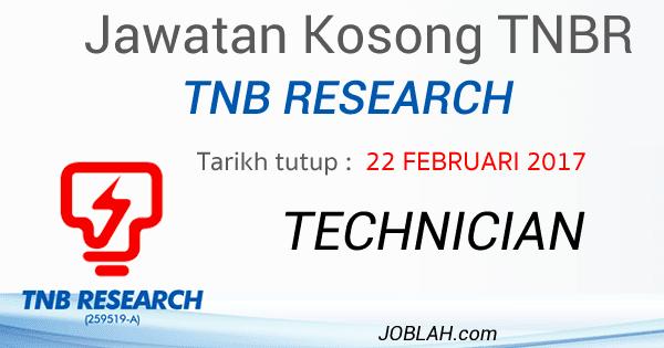 Jawatan Kosong TNB Research 2017