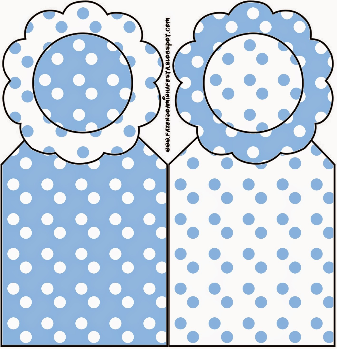 light blue with white polka dots first communion free printables