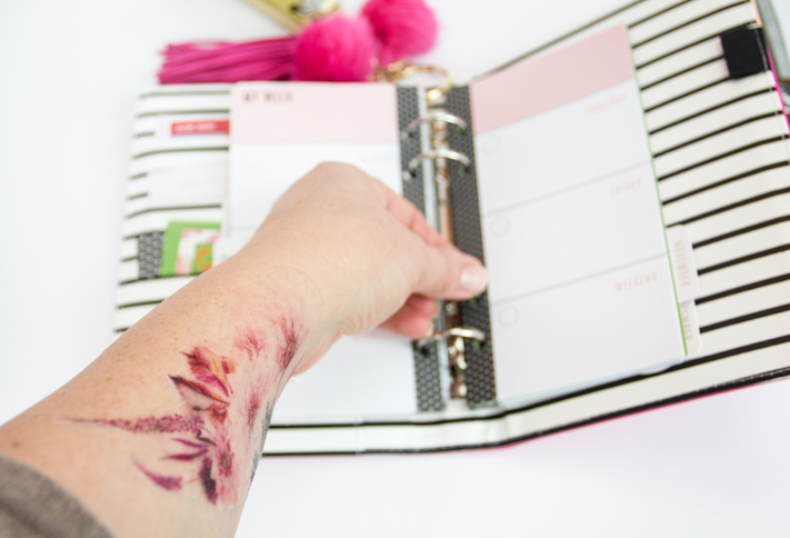 Free printable fall temporary tattoo by Jen Evans