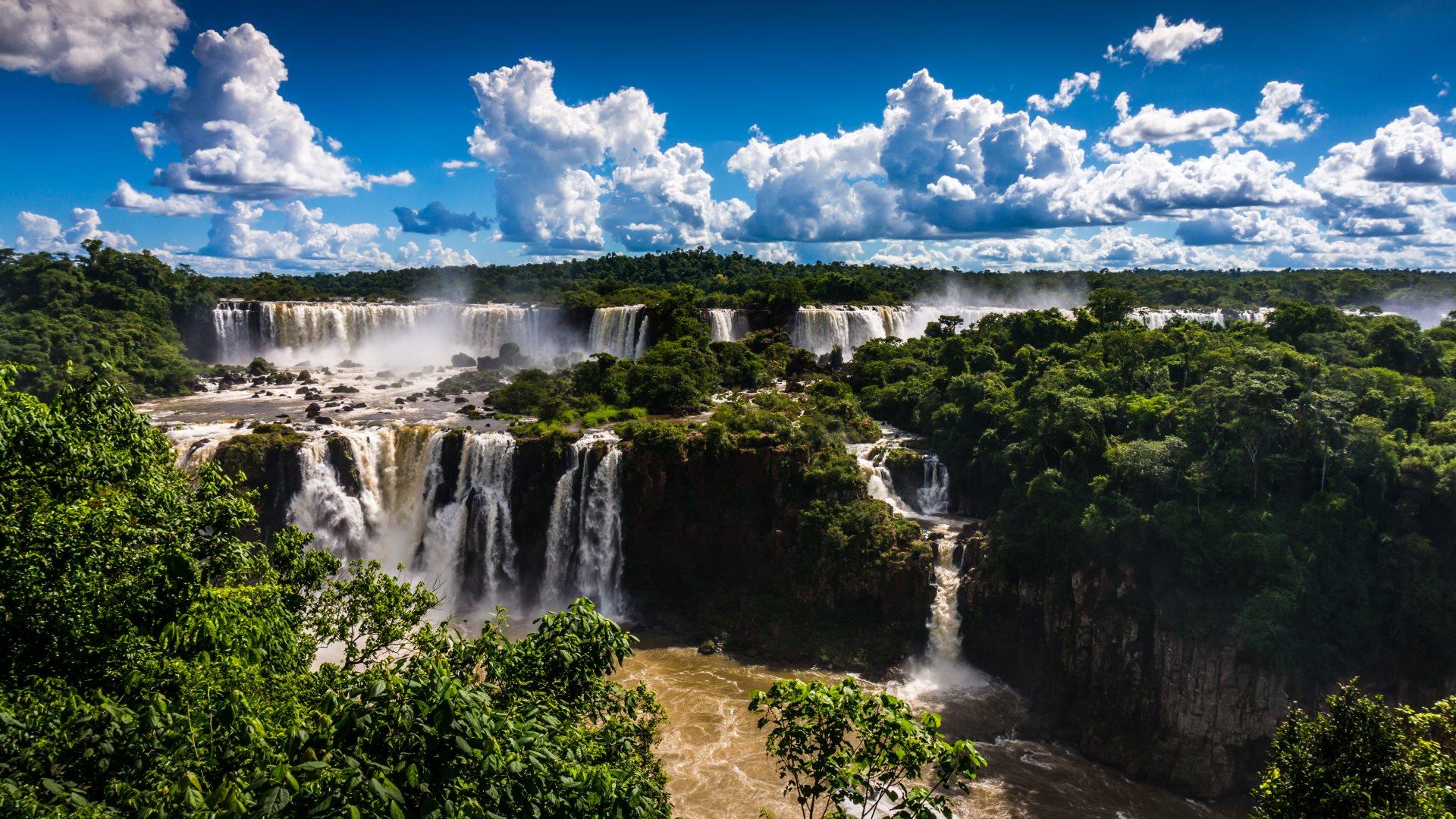 Niagara Water Falls Desktop Wallpaper Brazilian Side Of Iguazu Falls Hd Wallpapers 4k Macbook