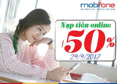Khuyến mãi trực tuyến Mobifone ngày 29/9/2017