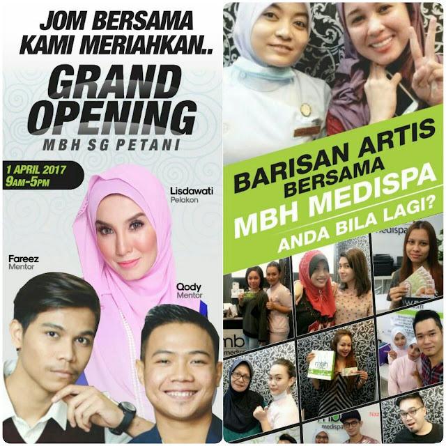 majlis pembukaan MBH Medispa sungai petani kedah, MBH Medispa dirasmikan oleh pelakon lisdawati, MBH Medispa Sungai Petani Kedah,