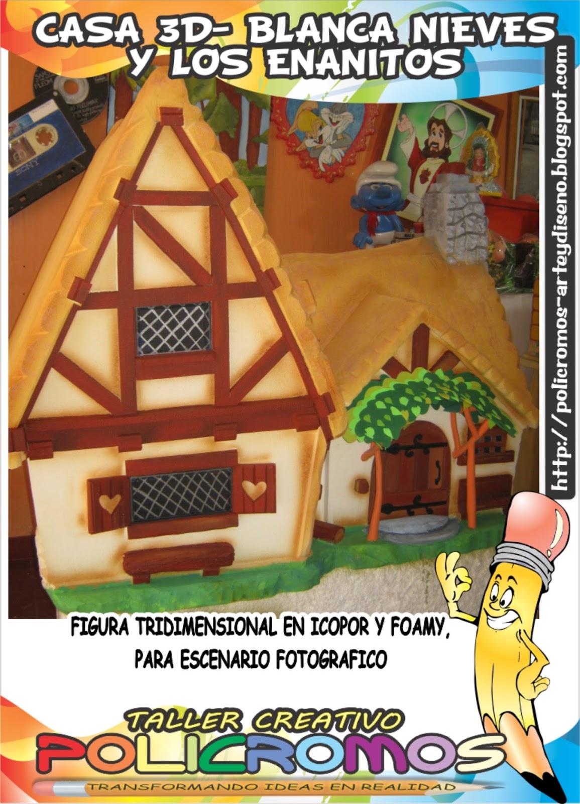 Policromos dise o y arte gr fico casa de los 7 enanitos - Casa de blancanieves y los 7 enanitos simba ...
