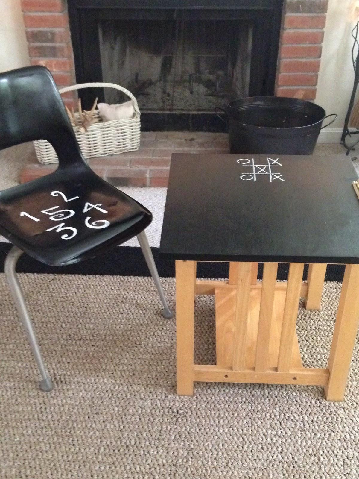 Child's Chalkboard Desk & Chair