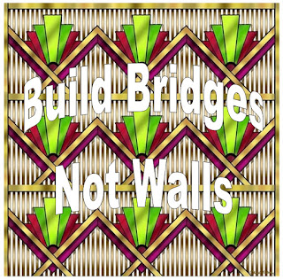 build bridges not walls:peace train, george harrison give me peace, trump protest tshirts, youtube videos to lighten the burden of under psychopaths and narcissists