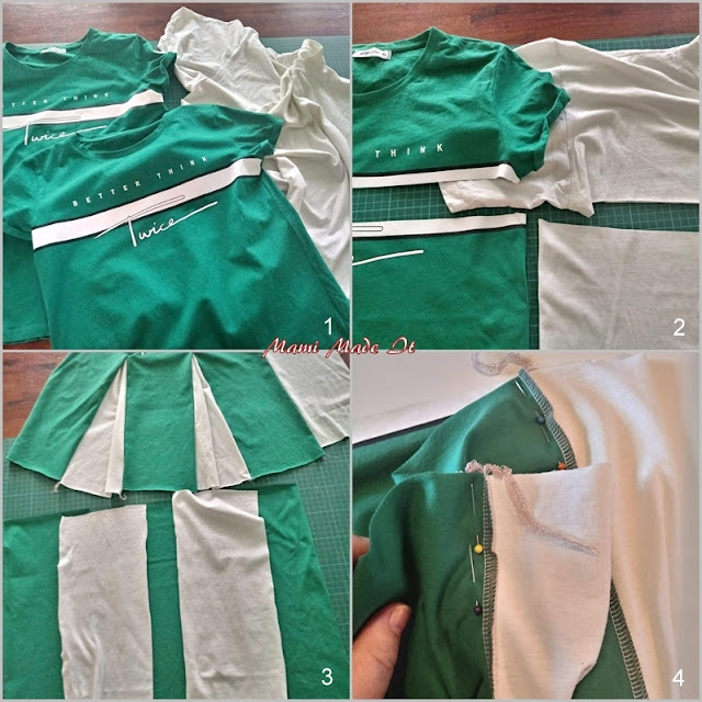 Wie näht man einen Cheerleader Rock? - How to sew a cheerleader skirt?